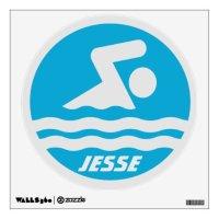 Custom Swimming Wall Decal   Zazzle