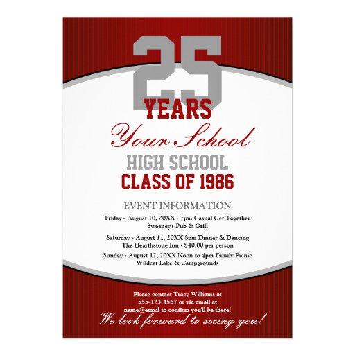 Personalized Class reunion Invitations CustomInvitations4U
