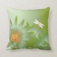 Customizable: Green daisies Pillow