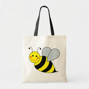 Cute Bumble Bee Budget Tote Bag