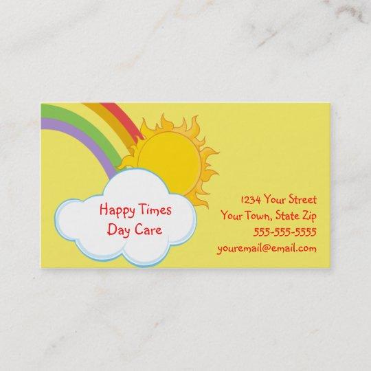 Cute Daycare Rainbow Business Cards Zazzle