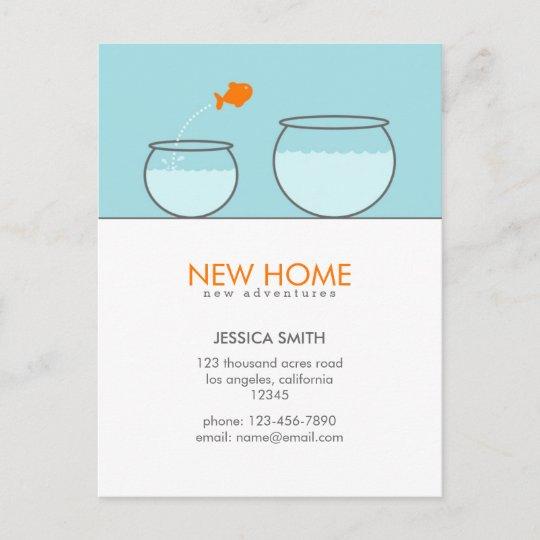 Cute Fish New Home Funny Postcards Zazzle