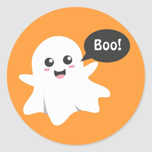 Christmas Wallpaper Iphone 6 Cute Ghost That Goes Boo Happy Halloween Classic Round