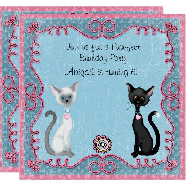 Kitty cat invitations ivoiregion 6 piece drawing cat kitty postcard set greeting invitation card paper filmwisefo
