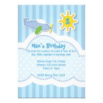 Cute Little Boy's Birthday Party Invitation