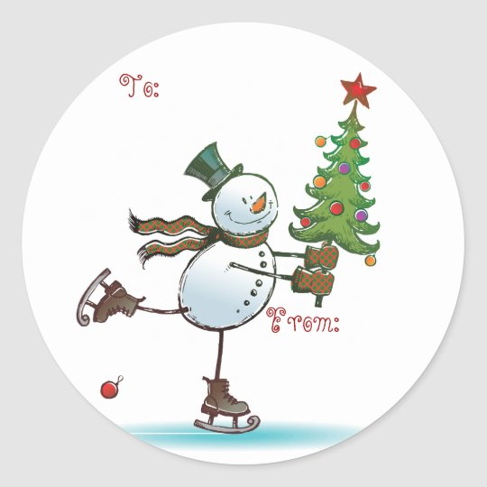 Cute Snowman Christmas Gift tags Zazzle