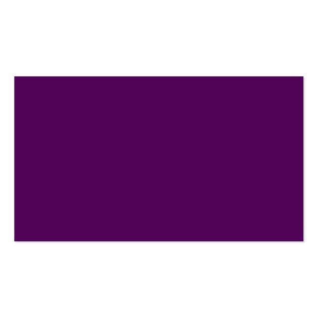 Dark Plum Purple Business Card