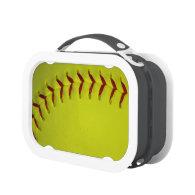 Dayglo Yellow Softball Lunch Box