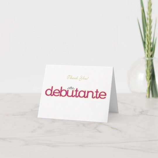 Debutante Collection ~ Blank Thank You Note Cards Zazzle