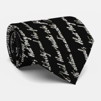 Declaration of Independence Negative Tie | Zazzle