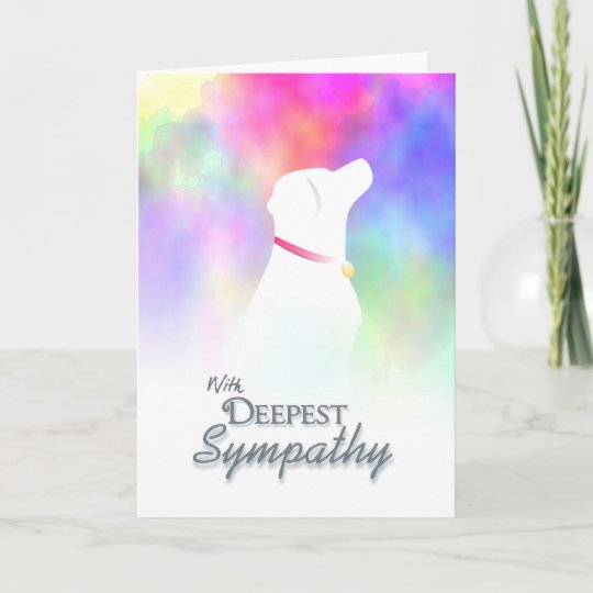 Deepest Sympathy - Dog Loss Dog Sympathy Card Zazzle
