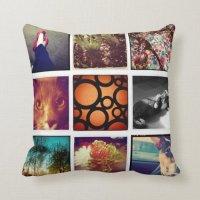 Design Your Own Instagram Throw Pillow   Zazzle
