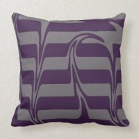 Purple Grey Pillows - Decorative & Throw Pillows | Zazzle