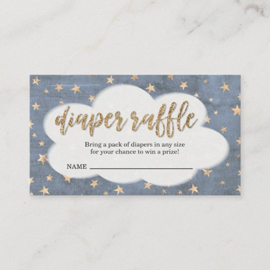 Diaper Raffle Ticket Insert for Boy\u0027s Baby Shower Zazzle