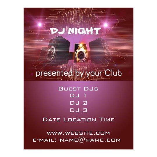 DJ Night Flyer Zazzle
