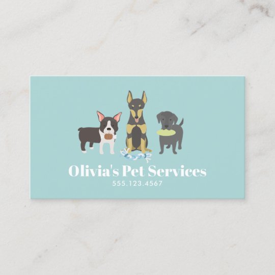 Dog Walker and Pet Sitter Business Card Zazzle