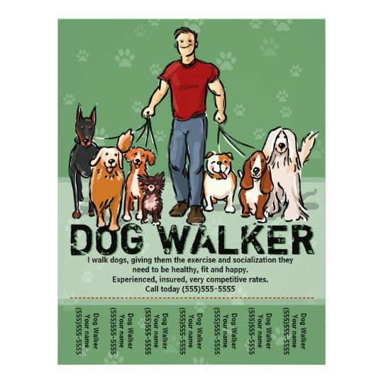 dog walking flyers free