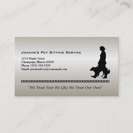 Dog Walker Pet Sitter Business Card 567334