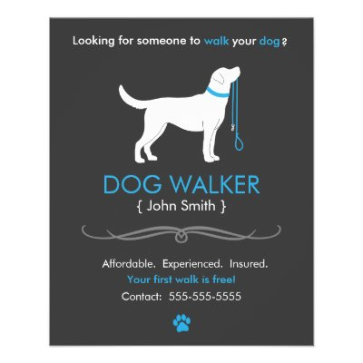 dog walking fliers - Towerssconstruction