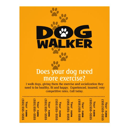 Dog Walking Flyer Template – Sponsorship Flyer Template