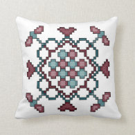 Dragonflies, Hearts and Circles Pillow