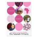 Dress Up Pink Circles 5x7 Paper Invitation Card