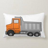 Dump Truck Pillow | Zazzle