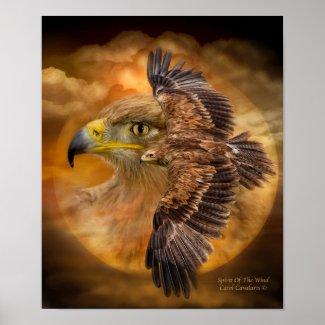 Eagle-Spirit Of The Wind Art Poster/Print