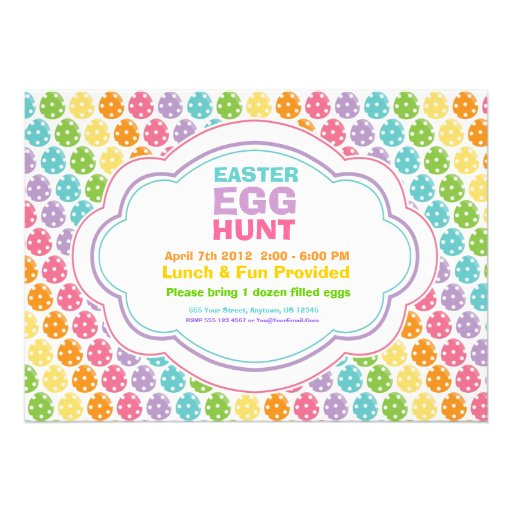 Personalized Easter egg hunt Invitations CustomInvitations4U - easter invitations template