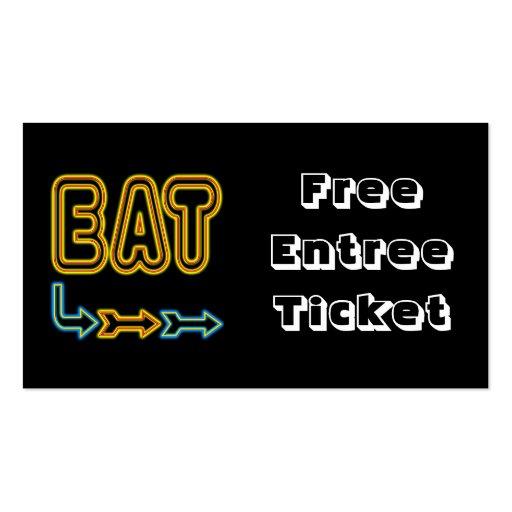 Meal Ticket Template – Free Meal Ticket Template