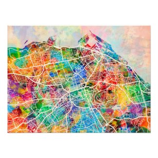 Edinburgh City Street Map Photo Print