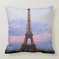 Eiffel Tower Paris Pillow   Zazzle