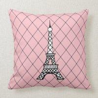 Eiffel Tower Pillow   Zazzle