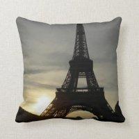 Eiffel Tower Throw Pillow   Zazzle