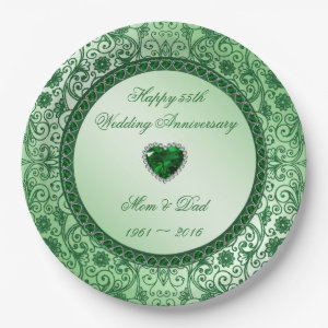 55th Wedding Anniversary Plate Gift Idea Personalized Trending Now