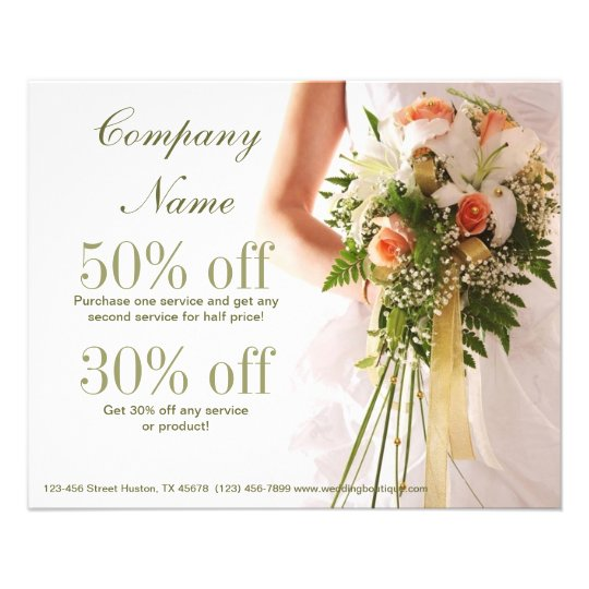 elegant bridal bouquet wedding planner flyer Zazzle
