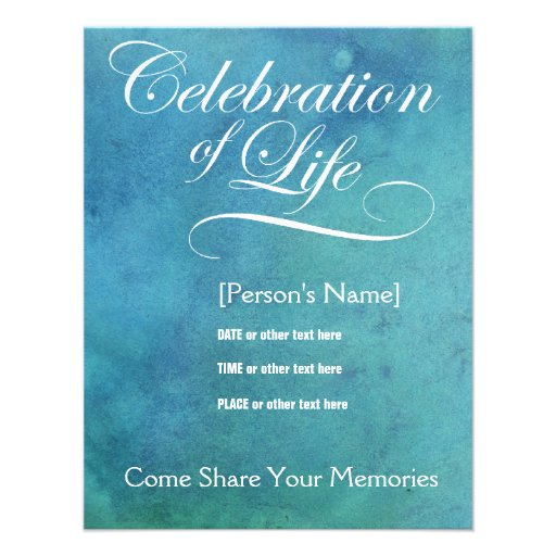 Personalized A celebration of life Invitations CustomInvitations4U - celebration of life templates