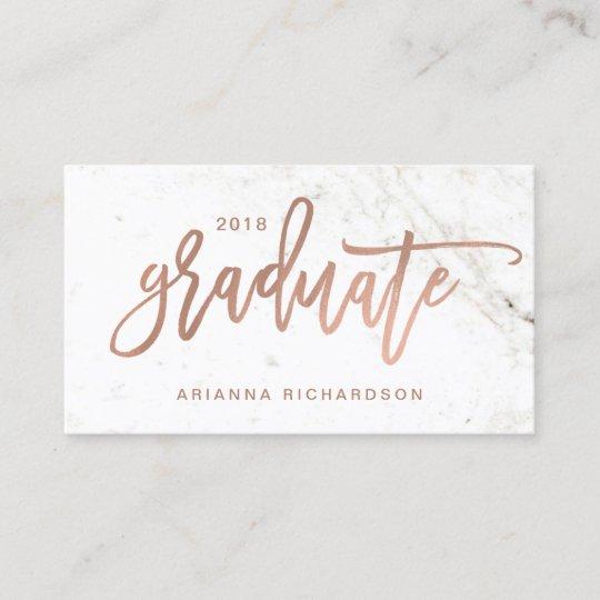 Elegant Graduate Marble Photo Insert Name Card Zazzle