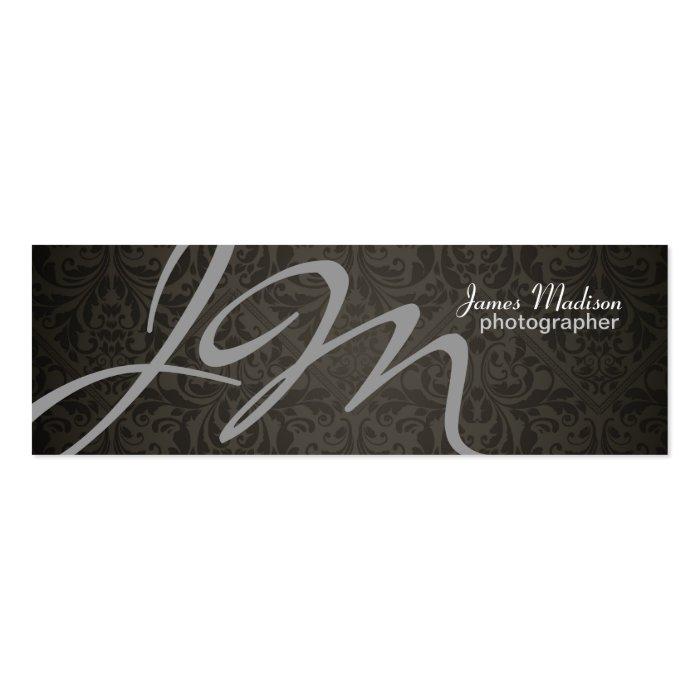 Elegant Photography Damask Business Card on PopScreen