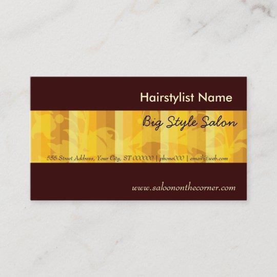 Elegant Plain Salon Hair Stylist Gold Appointment Card Zazzle