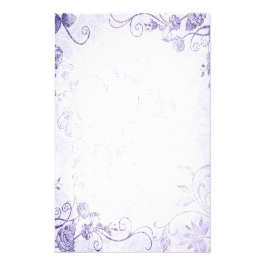 Elegant Purple Vintage Wedding Stationery Zazzle