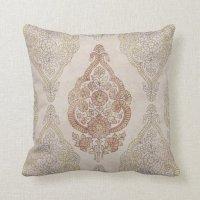 Elegant Shabby Chic Paisley Throw Pillow | Zazzle