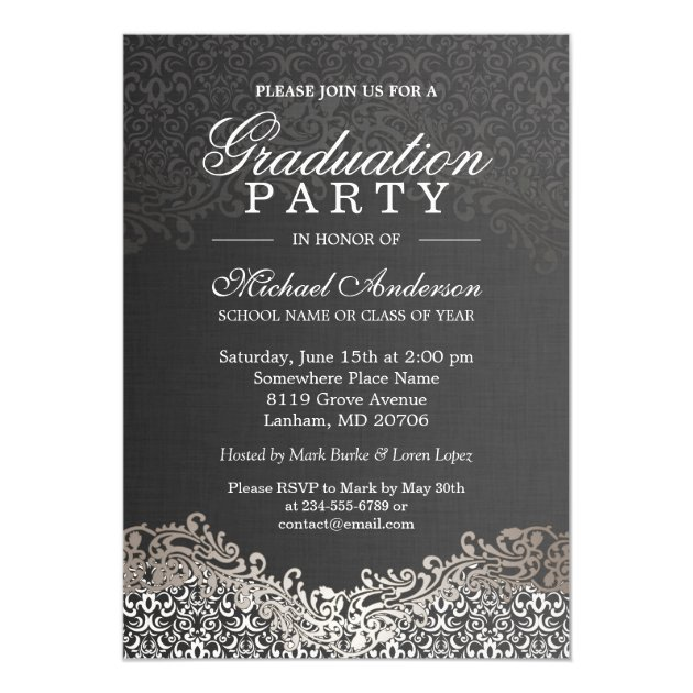 Personalized High school formal Invitations CustomInvitations4U - Formal Invitation