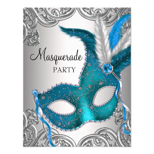 Personalized New years eve masquerade ball Invitations - new years invitations templates