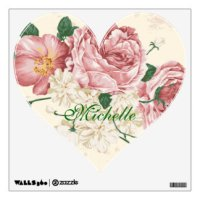 Vintage Flower Wall Decals & Wall Stickers | Zazzle