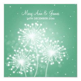 Elegant Wedding Summer Sparkle Mint Green Invitation