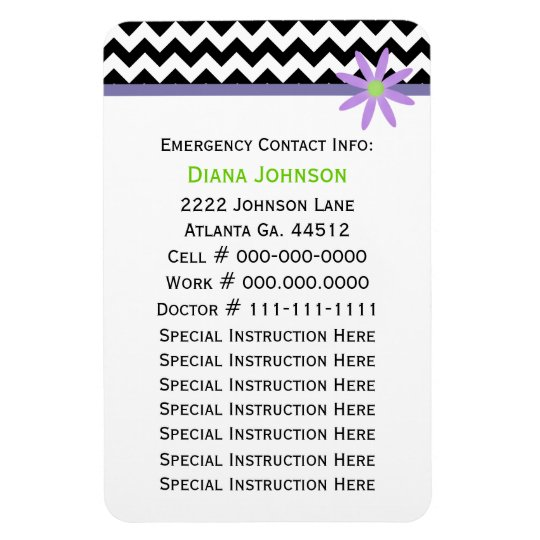 Emergency Contact Babysitter Premium Magnet Zazzle