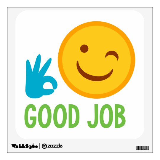 Emoji Good Job Wall Decal Zazzle