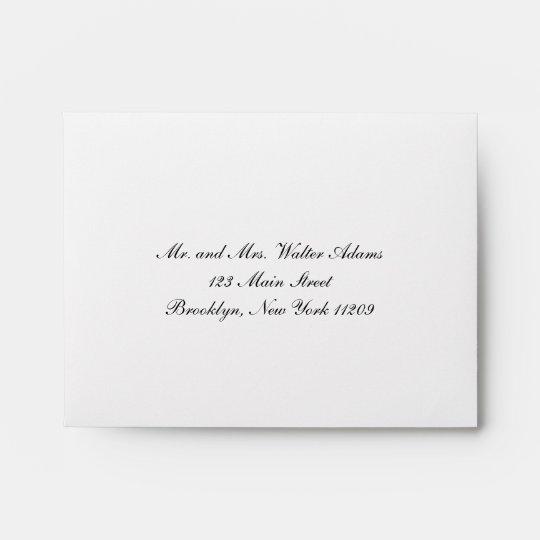 Envelope for RSVP Card Wedding Invitation Zazzle