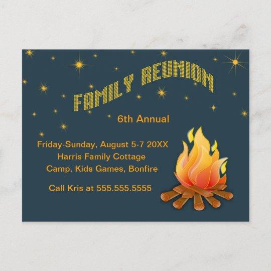 Family Reunion -Bonfire invite Zazzle
